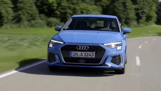 The new Audi A3 Sedan in Turbo blue Driving Video