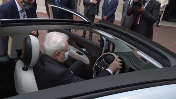 Presentation of the New Fiat 500 to the President of the Italian Republic, Sergio Mattarella