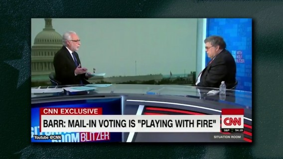 AG Barr and CNN's Wolf Blitzer spat over mail-in voting