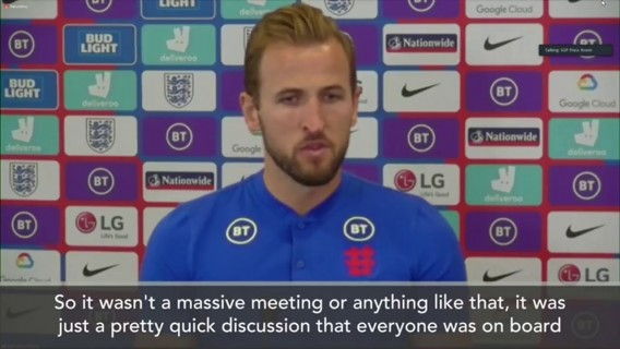 Eng Sub: 'Everyone was on board' - Kane on Engand's decision to take the knee