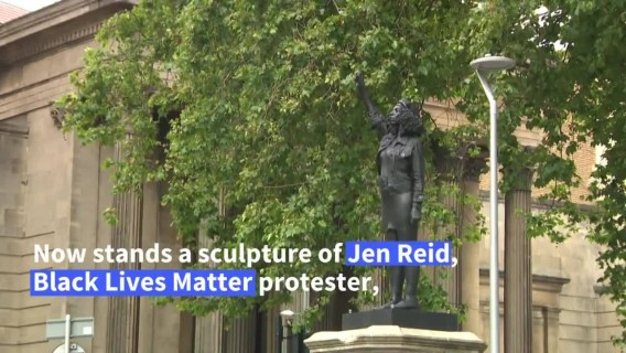 UK slave trader statue replaced by protester sculpture