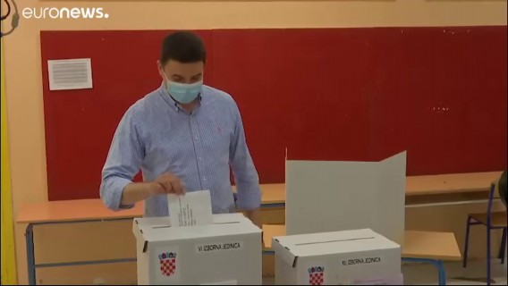 Croatia election: Exit poll places conservative Croatian Democratic Union, HDZ, in lead
